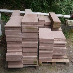 Granit Blockstufen Anthrazit 15 x 35 cm 100 cm lang