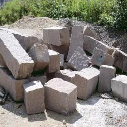 Granit Palisaden Weißgrau 10 x 25