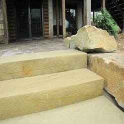 Sandstein Terrassen Platten Gobi Gelb 3 cm 60 x 40 cm