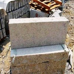 Sandstein Blockstufen Rot 18 x 35 cm 50 cm lang