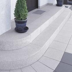 Granit Sichtschutz und Zaun Element Hellgrau 10 x 50 cm