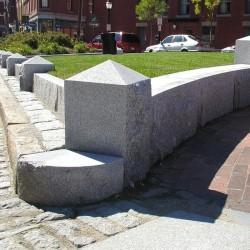 Granit Brücke Grau 300 x 100 x 15 cm halbrund
