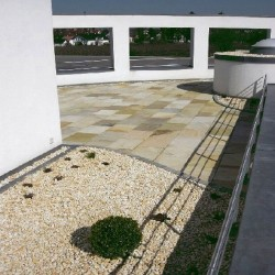 Granit Pflaster Weißgrau 5 cm stark