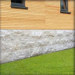 Muschelkalk Mauersteine 15 - 25 cm hoch