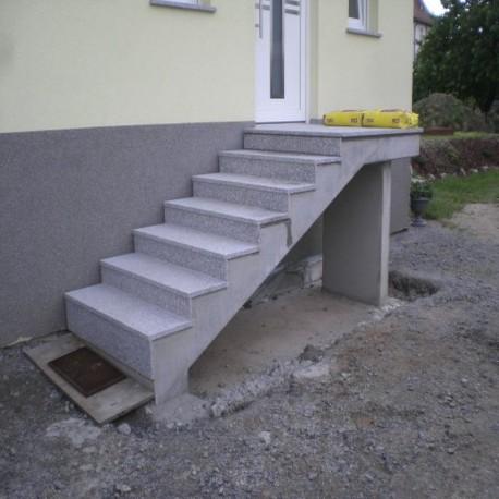 Granit-Pflaster Platten Griys Hellgrau 6 cm