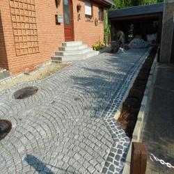 Granit Sitz Blöcke Granit Laahs Rot 50 x 50 x 80