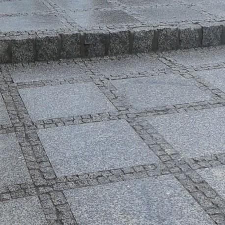 Granit Kyrill Pflaster Steine grau Größe 8 x 11cm