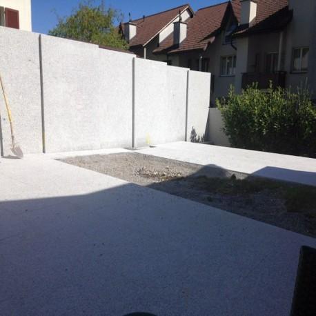 Granit Bordstein Griys 8 x 25 cm geflammt freie Länge