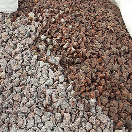 Granit Schotter Raudona Rot lose 16 - 32 mm