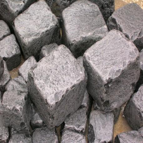 Granit Palisaden Griys Hellgrau 8 x 25 cm 300 cm lang