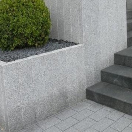 Granit Blockstufen Griys hellgrau 20 x 40 cm 200 cm lang