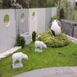 Granit Griys Sichtschutz Hellgrau 10 x 100 cm