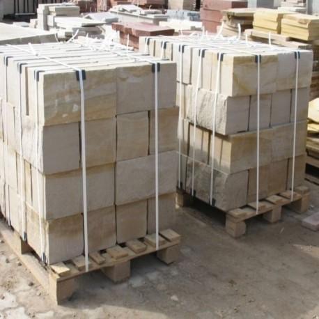 Limes Granit Pfosten Griys Hellgrau 25 x 25 cm 100 cm lang