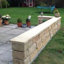 Mauer Abdeckplatten Granit Griys 3 cm