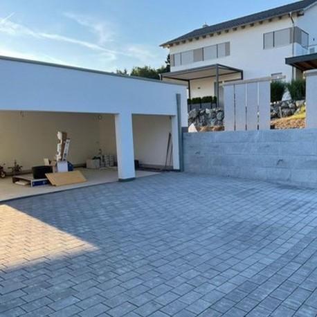 Granit-Quader Raudona Rot 40 cm hoch