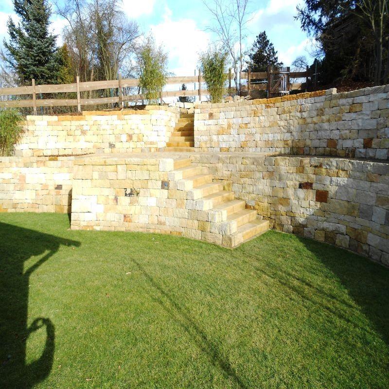 Granit Terrassen Platten Gelb Cm Natur Steine Org - Splittbett für terrasse