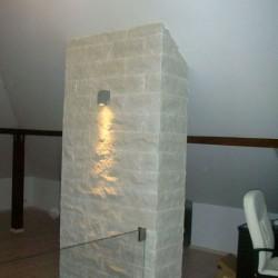 Granit Bravo Pfosten 15 x 15 cm geflammt 300 cm lang