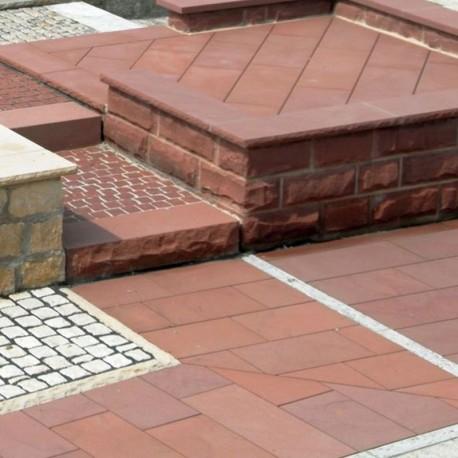 Granit Pflaster Platten Alvaro dunkelgrau 6 cm geflammt 30 x 20 cm