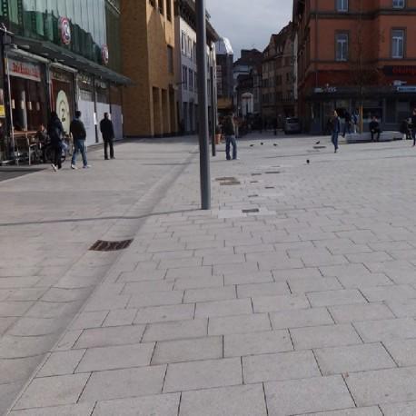 Schiefer Blockstufen Schwarz 14 - 16 cm hoch