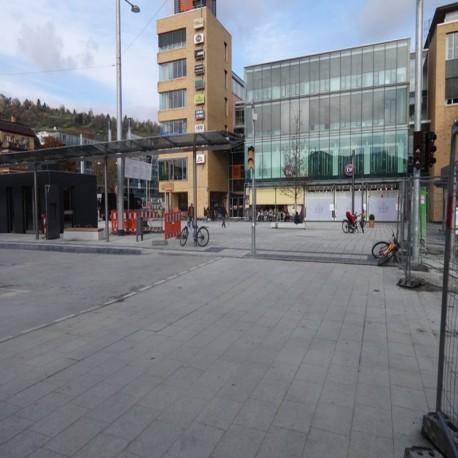 Schiefer Blockstufen Schwarz 14 - 16 cm hoch 100 cm lang