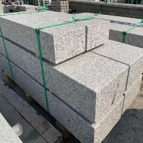 Granit Blockstufen Tiago Hellgelb 15 x 40 cm Gestrahlt