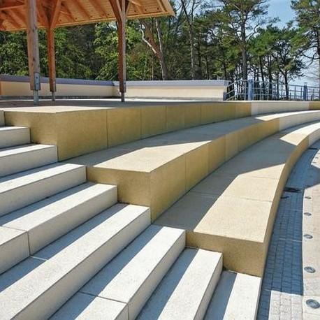 Granit Blockstufen Tiago Hellgelb 100 x 18 x 35 cm gestrahlt