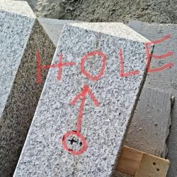 Granit Palisaden Laahs Rot 8 x 25 cm