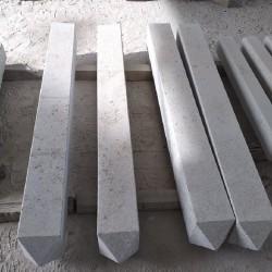 Basalt Palisaden Schwarz geflammt 10 x 25 200 cm lang