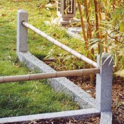Basalt Palisaden Schwarz geflammt 10 x 25 300 cm lang