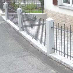 Granit Palisaden Alvaro Dunkelgrau 10 x 25 cm