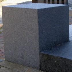 Granit Alvaro Sichtschutz Dunkelgrau 10 x 50 cm