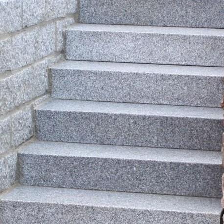 Granit Pflaster Steine Griys Grau gespalten GRöße 4 x 6 cm