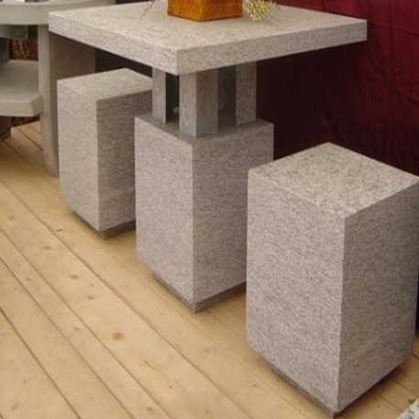 Sitz Blöcke Granit Tiago Gelb sandgestrahlt 45 x 45 x 45 cm