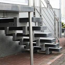 Granit Pfosten Gelb 20 x 20 cm