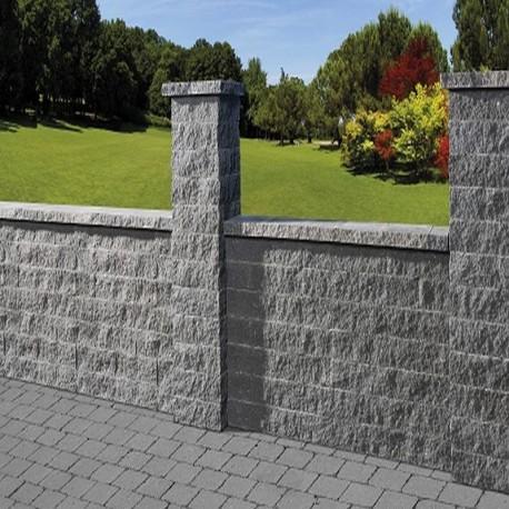 Granit Blockstufen hellgrau 15 x 40 cm 100 cm lang