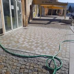 Granit Mauersteine 50 cm hoch gesägt