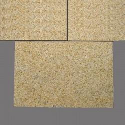Basalt Blockstufen Schwarz geflammt 15 x 30 cm
