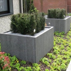 Basalt Palisaden Schwarz 8 x 20 cm 100 cm lang
