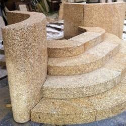 Straßenpoller Leipzig Granit Griys Hellgrau Rund D 40 cm