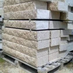 Basalt Palisaden Schwarz 10 x 25 cm 125 cm lang