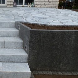 Basalt Legstufen 30 x 8 cm 100 cm lang