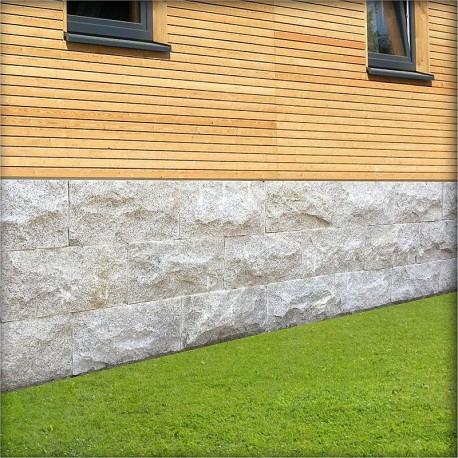 Granit Bordstein Griys hellgrau 8 x 25 cm freie Länge